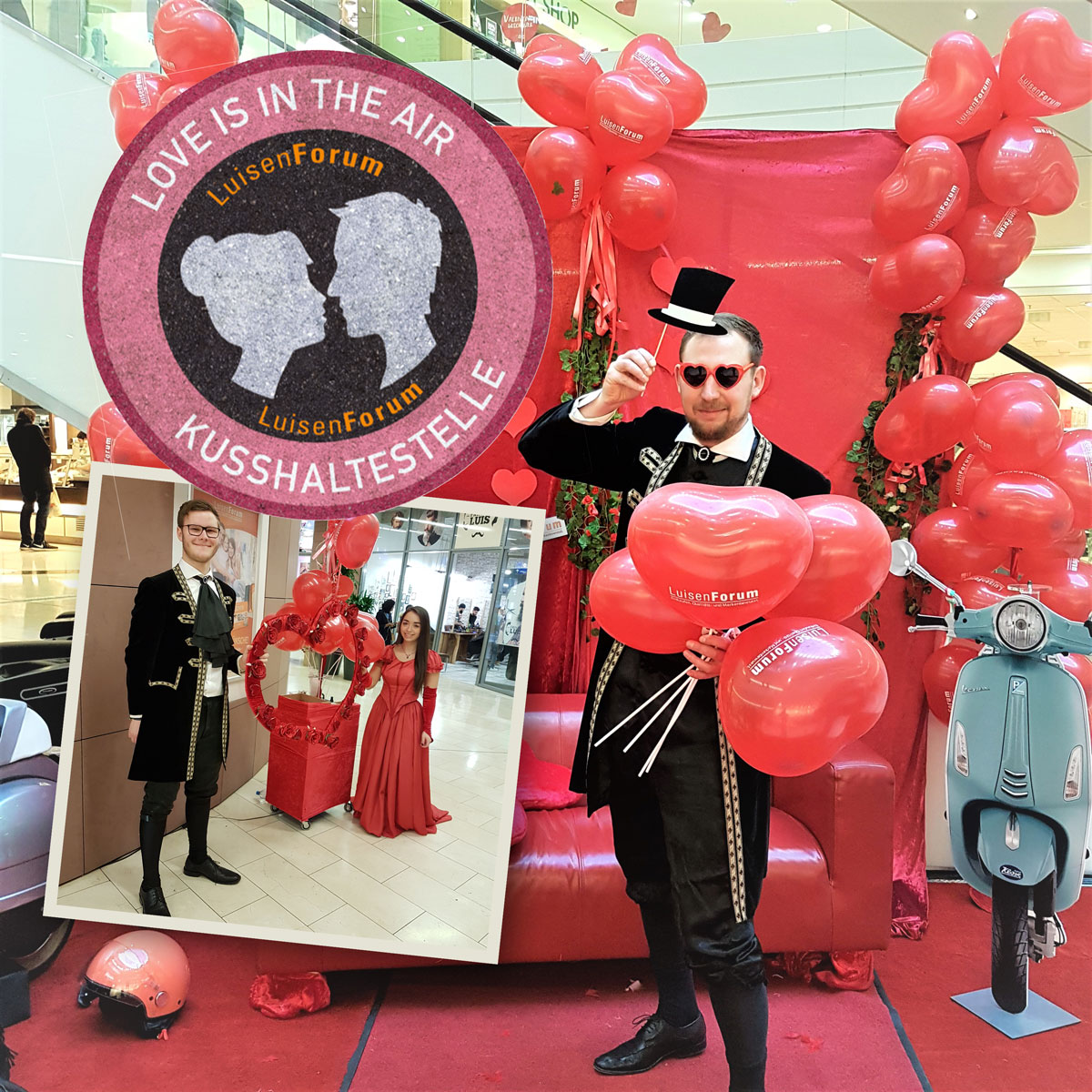 Love is in the air – Kusshaltestelle an Valentinstag im LuisenForum Wiesbaden