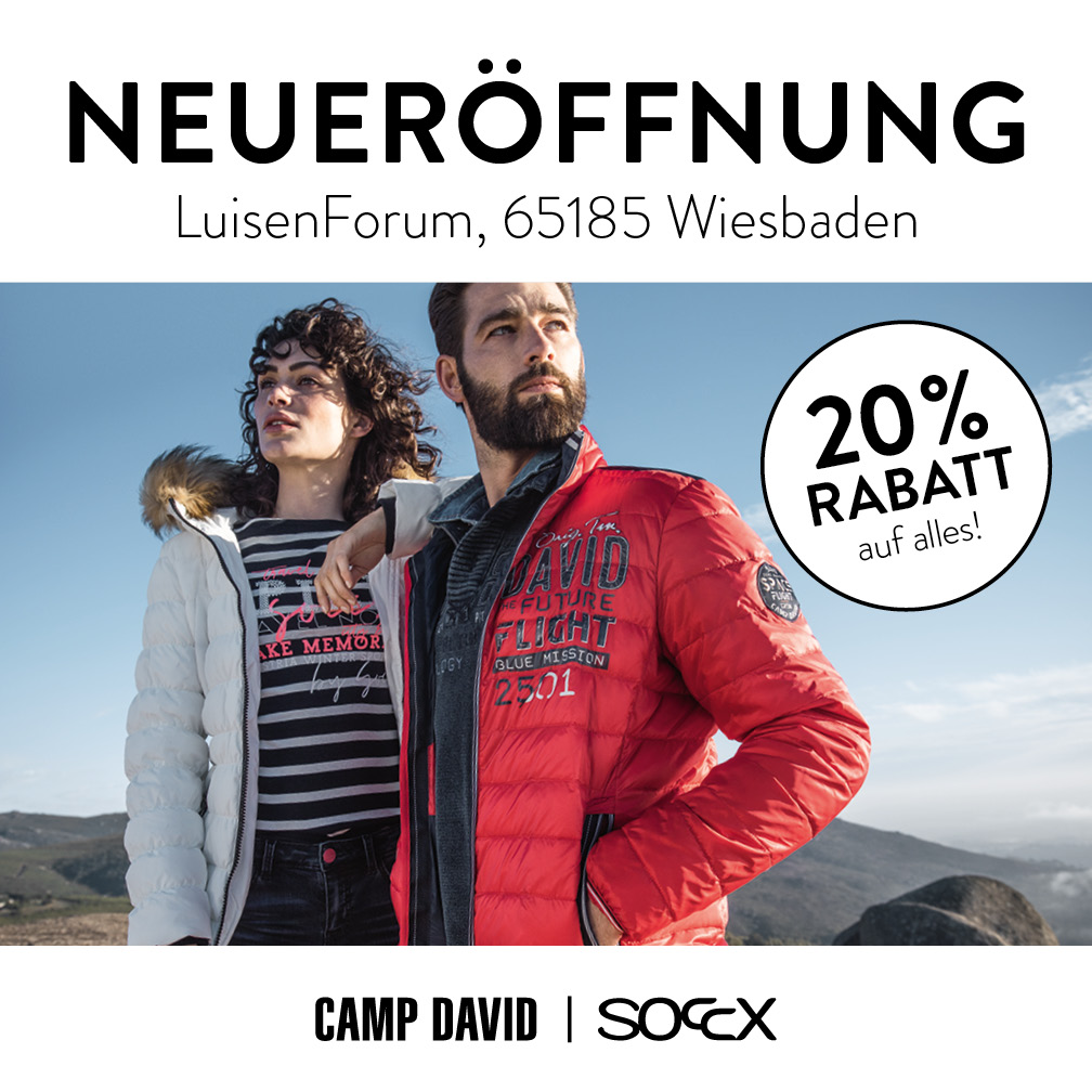 CAMP DAVID / SOCCX Store im LuisenForum Wiesbaden