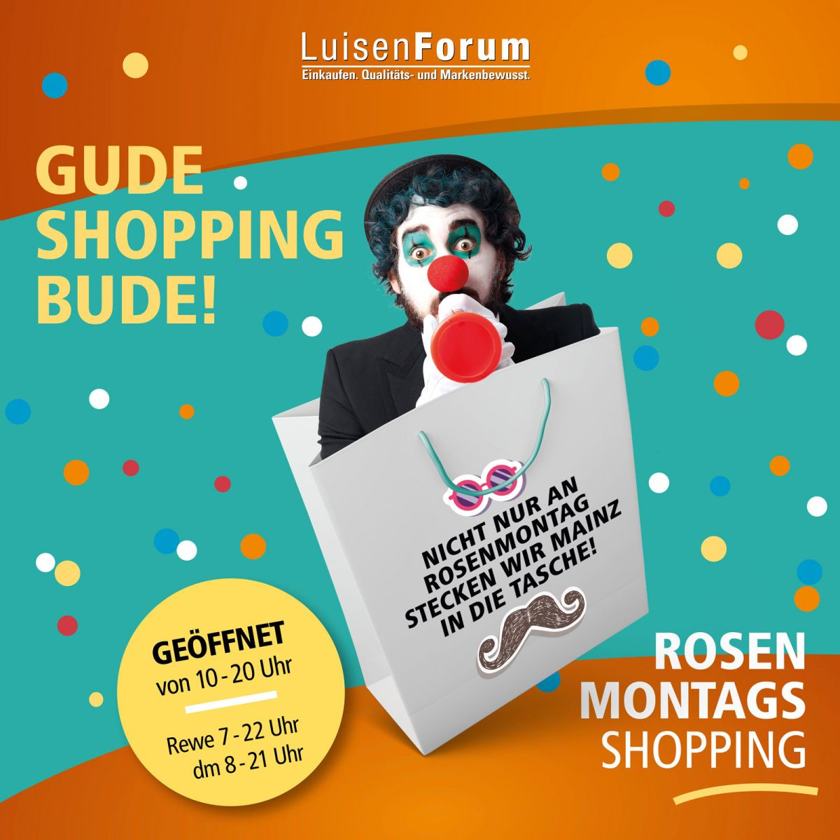 Rosenmontags Shopping im LuisenForum